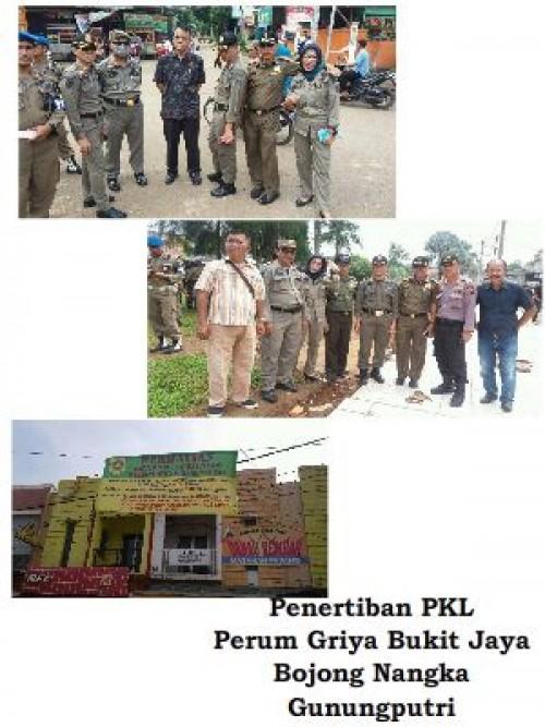 Penertiban PKL di Perum Griya Bukit Jaya