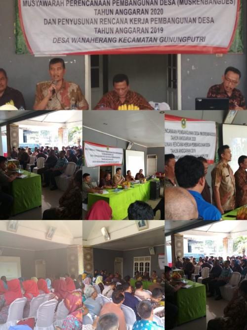 Musyawarah Perencanaan Pembangunan Desa (Musrenbangdes)  Wanaherang Kecamatan Gunungputri