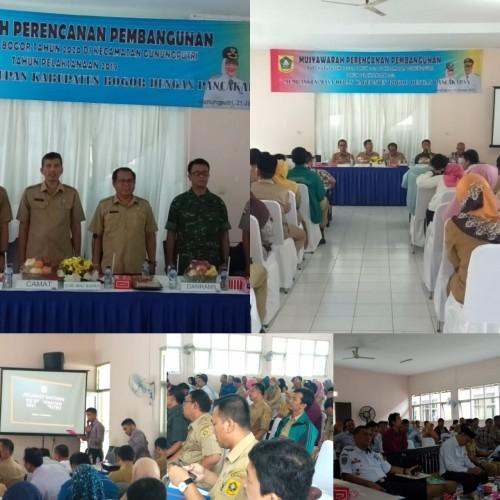 Musyawarah Perencanaan Pembangunan (Musrenbang) RKPD di Kecamatan Gunungputri Tahun Perencanaan 2020