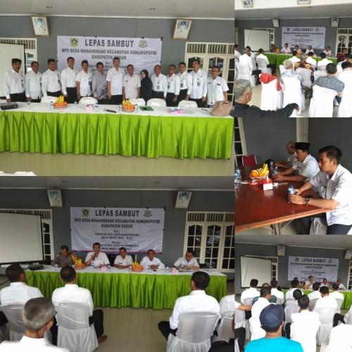 Lepas Sambut anggota BPD Desa Wanaherang Kecamatan Gunungputri