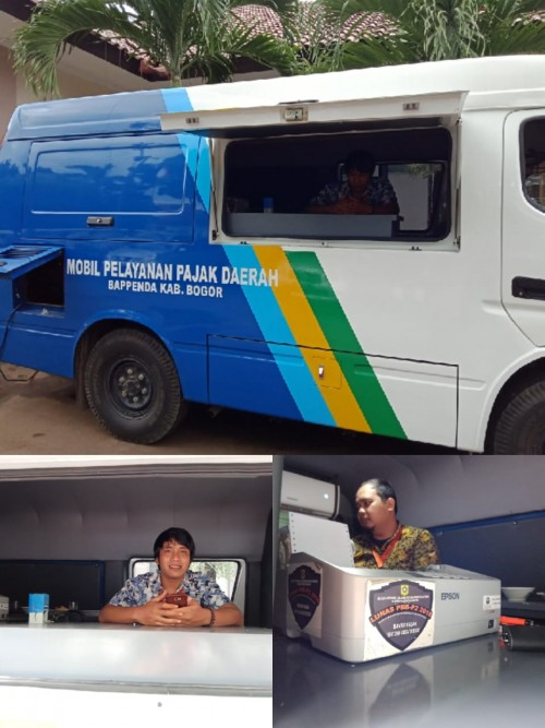 Mobil Pelayanan Pajak Daerah Kab. Bogor melayani setiap Kamis di Kecamatan Gunungputri